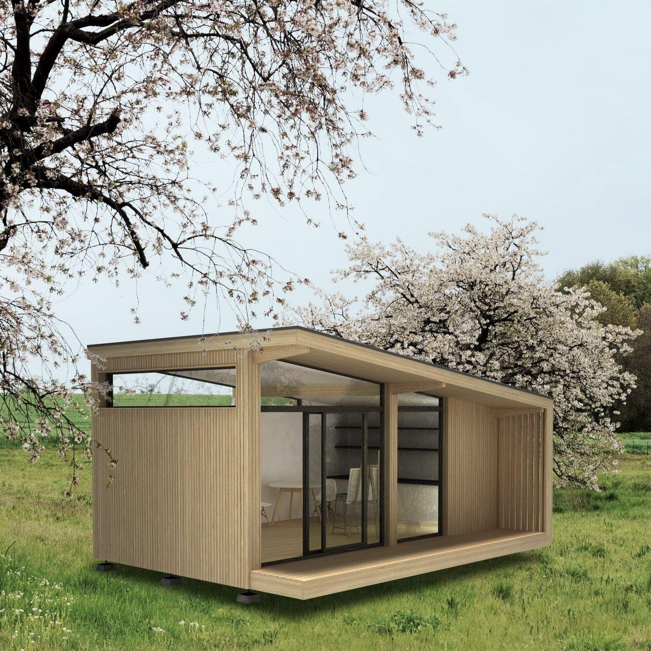 Micro maison modulaire design ossature bois de plain pied cabane piknik