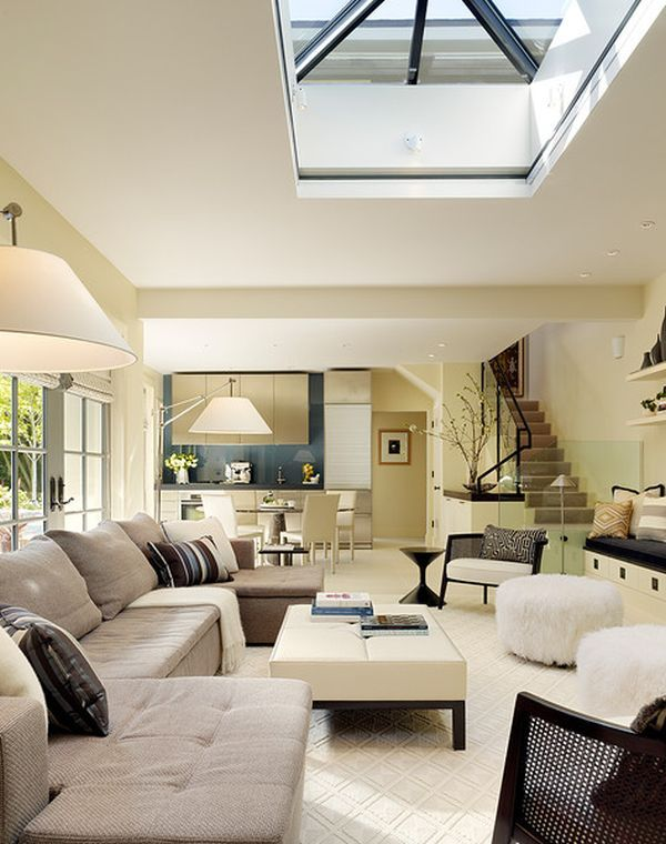Exceptional Sleek And Stylish Modern Living Space With Central Skylight By Butler  Armsden Architects