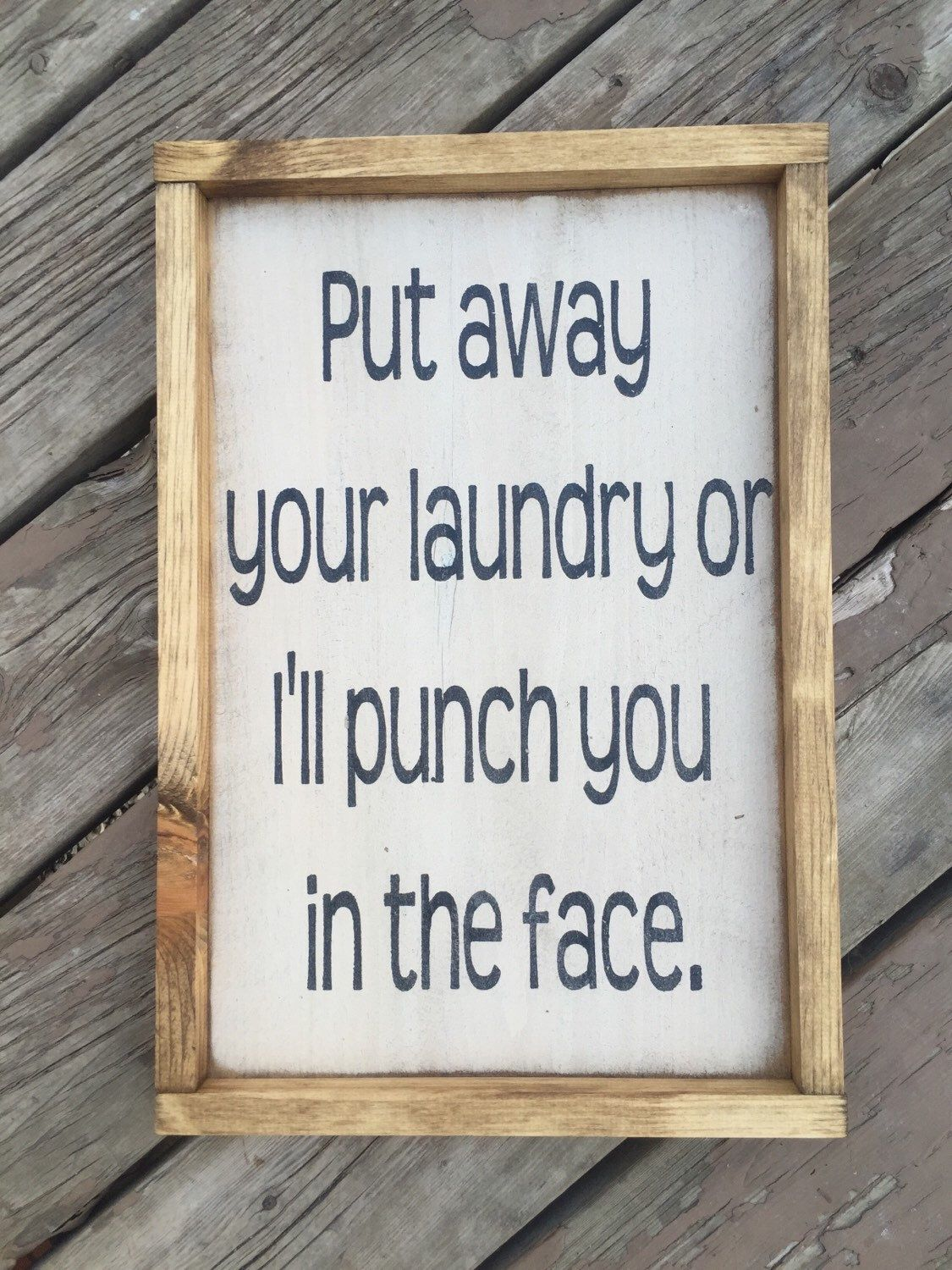 Rustic framed funny laundry sign By Prim Pickins Shop etsy