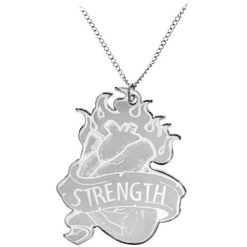 Black Strength from the Heart Necklace Body Candy. $9.99