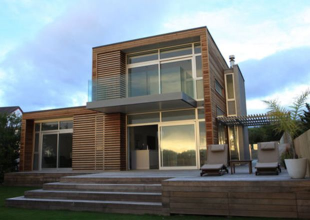 box beach house design; double story height with balcony ...