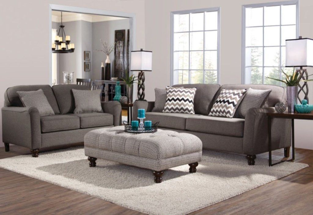 Serta Upholstery Max Ash Sofa And Loveseat Living Room Sets
