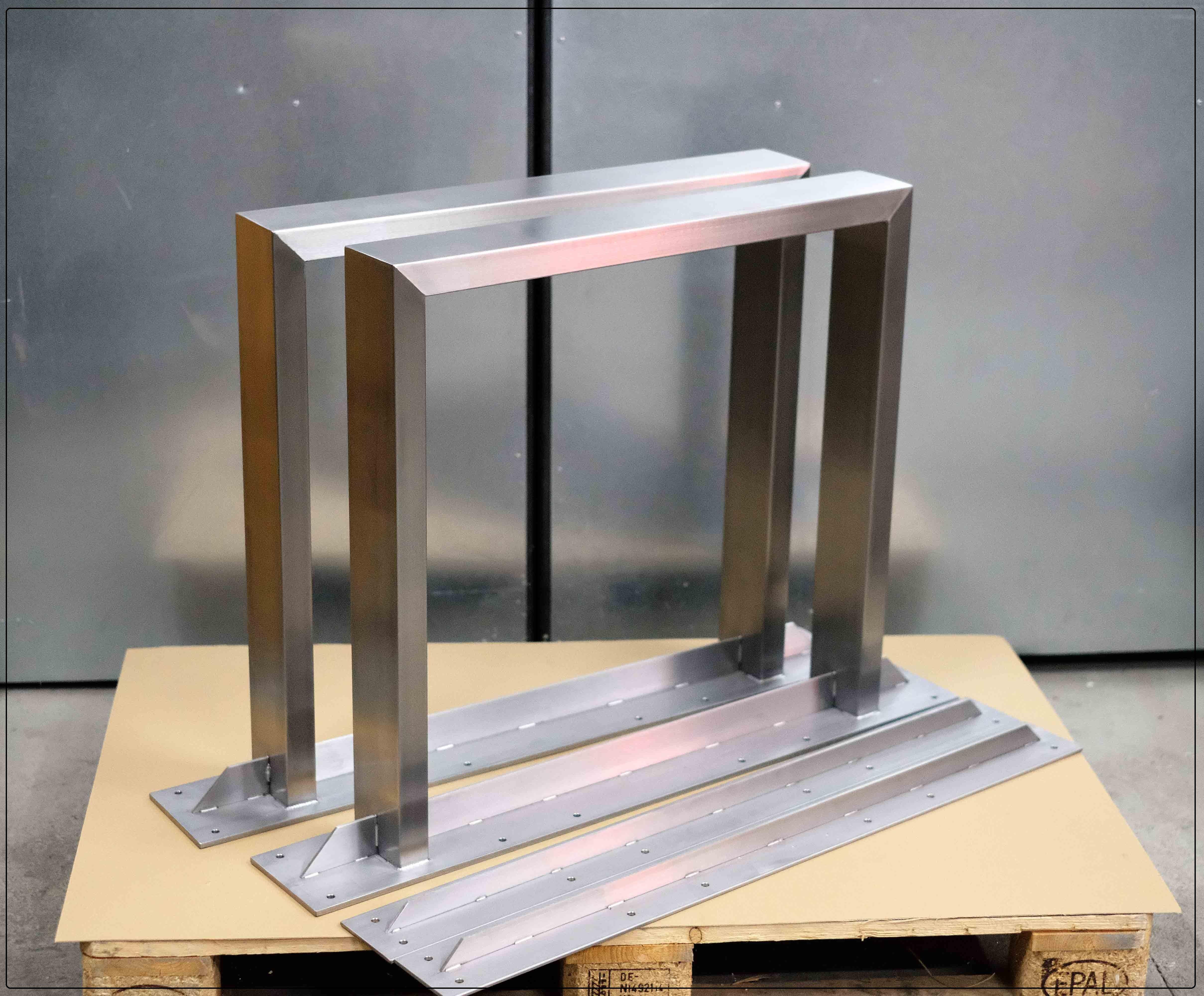 Stahl Tischkufen Tischkufen Edelstahl Metallbau Tischgestell