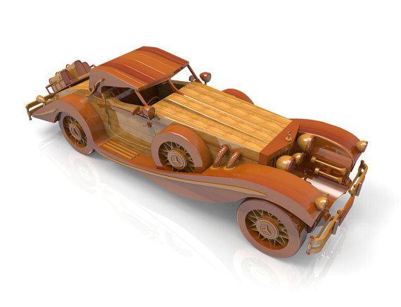 Mercedes-Retro-1934 by Lloydswoodtoyplans on Etsy
