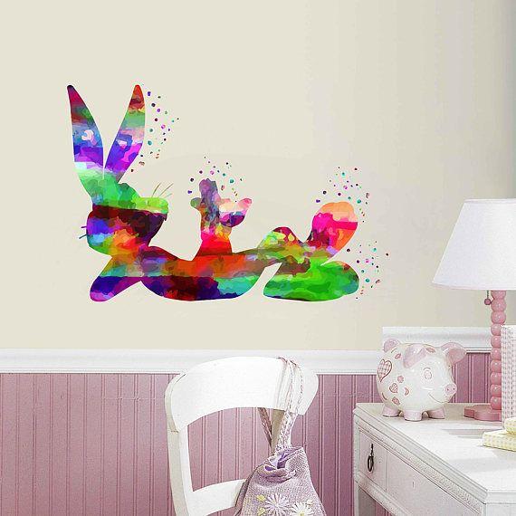 kcik2015 Full Color Wall decal Watercolor Character Disney