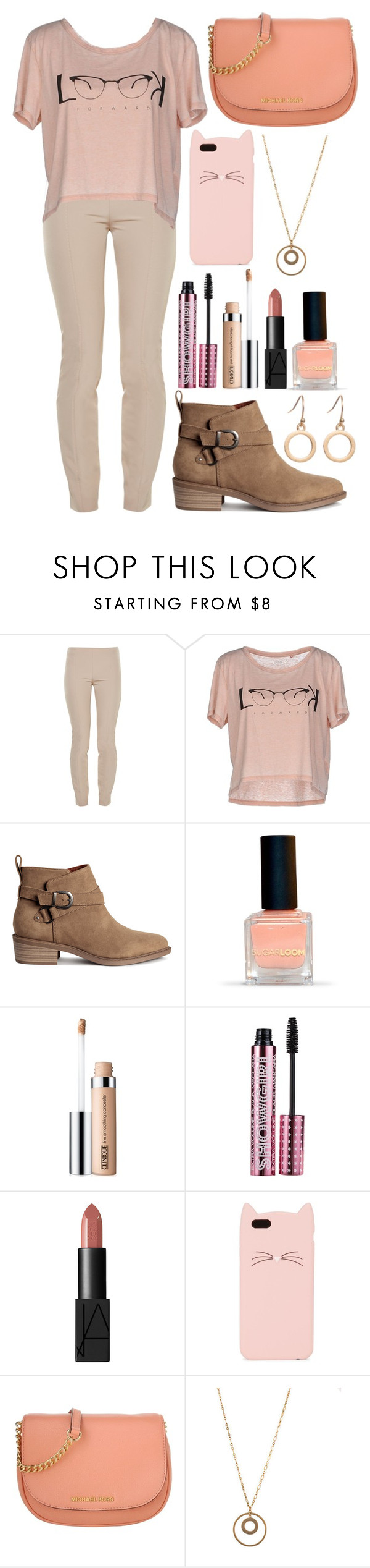 """#264"" by nattiexo ❤ liked on Polyvore featuring The Row, ONLY, Clinique, Barry M, NARS Cosmetics, Kate Spade and Michael Kors"