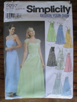 36a33880c6c2 Simplicity Pattern Two Piece Formal Prom Dress - this lady has tons of  awesome patterns!