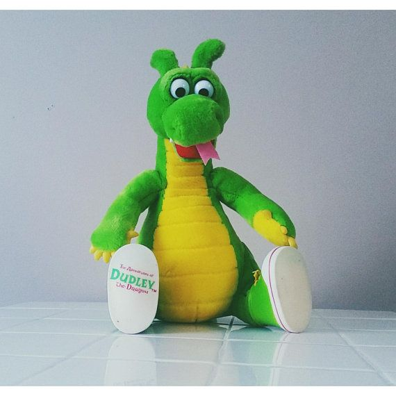 Rare Dudley The Dragon 90s Vintage Stuffed Animal Plush