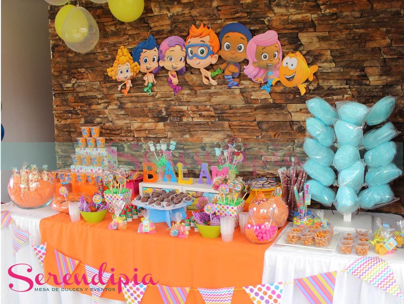 mesa de dulces bubble guppies mesas temáticas serendipia