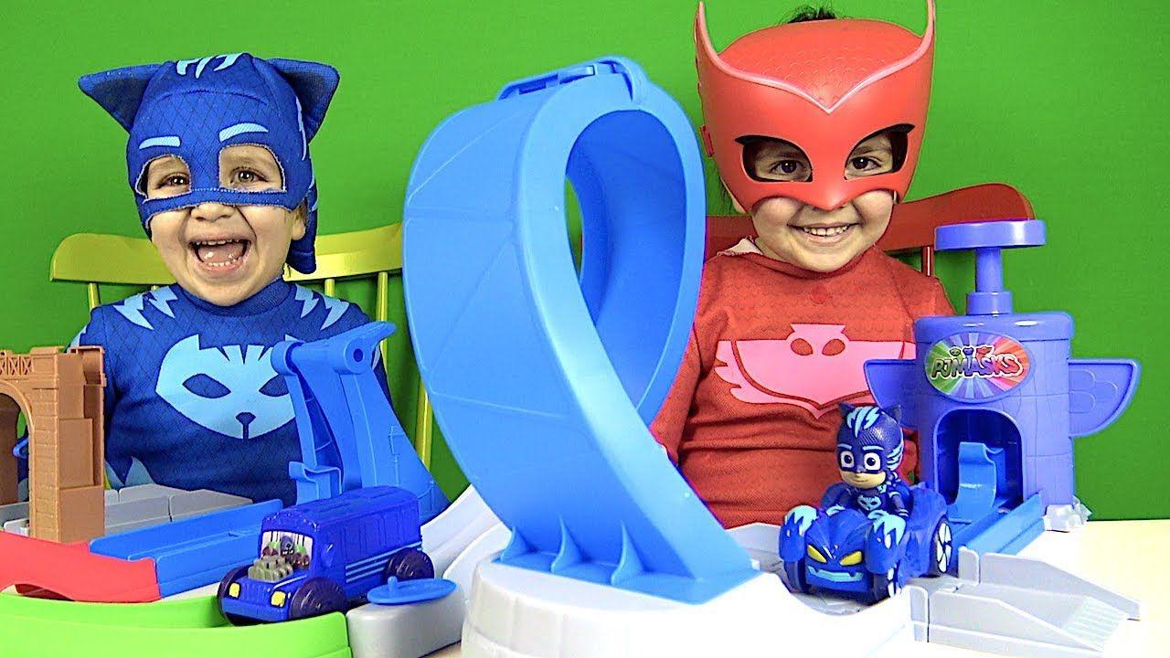 Pijamaskeliler Oyuncak Yaris Pisti Acan Kedi Cocuk Ve Baykus Kiz Pj Mask Oyuncak Kedi Baykus