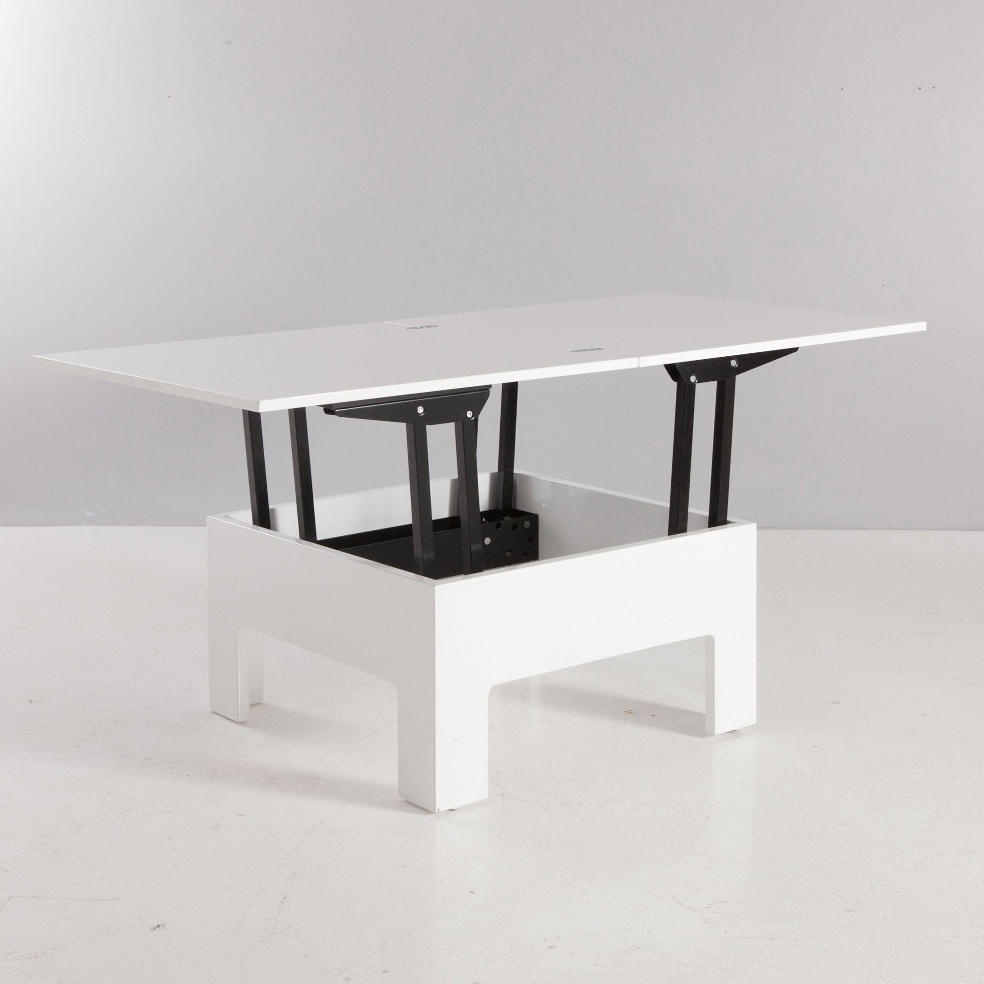 table basse bar rectangulaire relevable extensible en. Black Bedroom Furniture Sets. Home Design Ideas