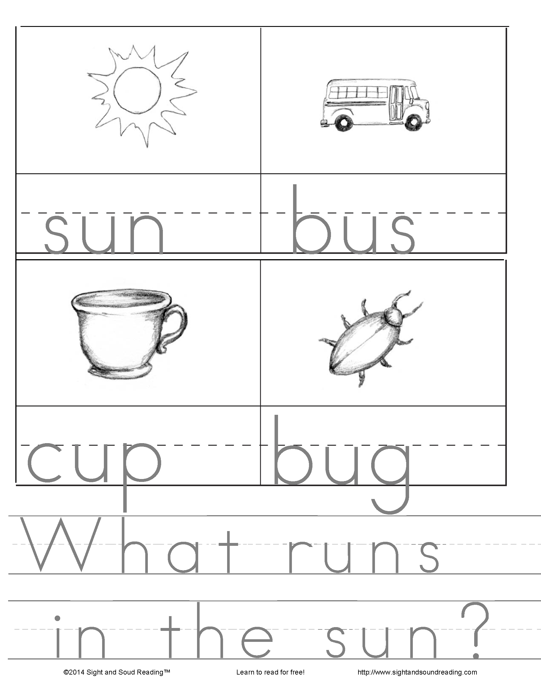 Ut Cvc Word Family Worksheets