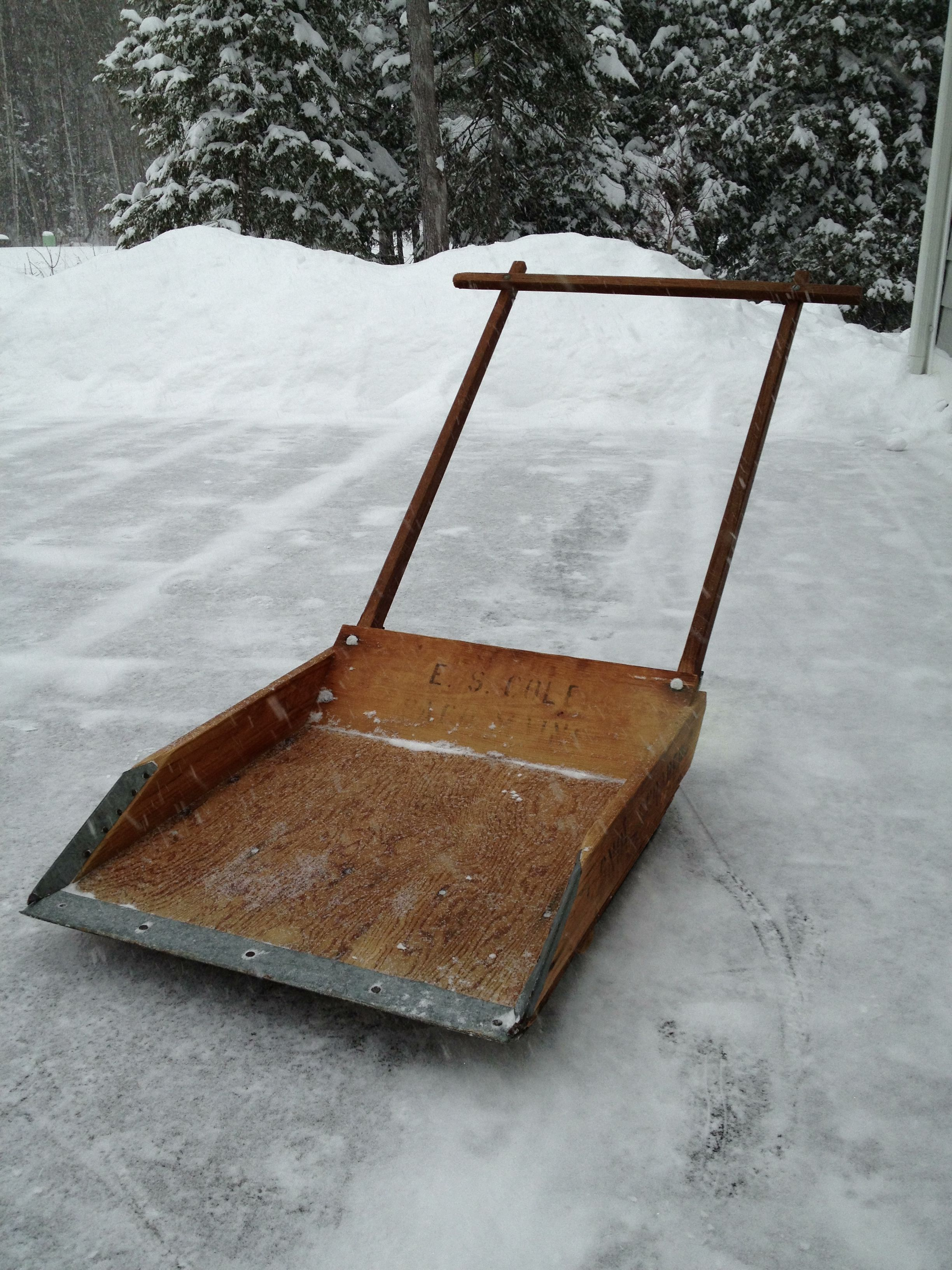 Wooden Snow Scoops Made In Maine What Ever Happened To