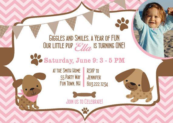 dog birthday party invitations puppy