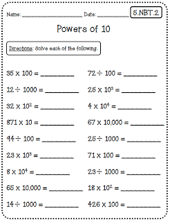 Common Core Worksheets 5th Grade Edition Common Core Math
