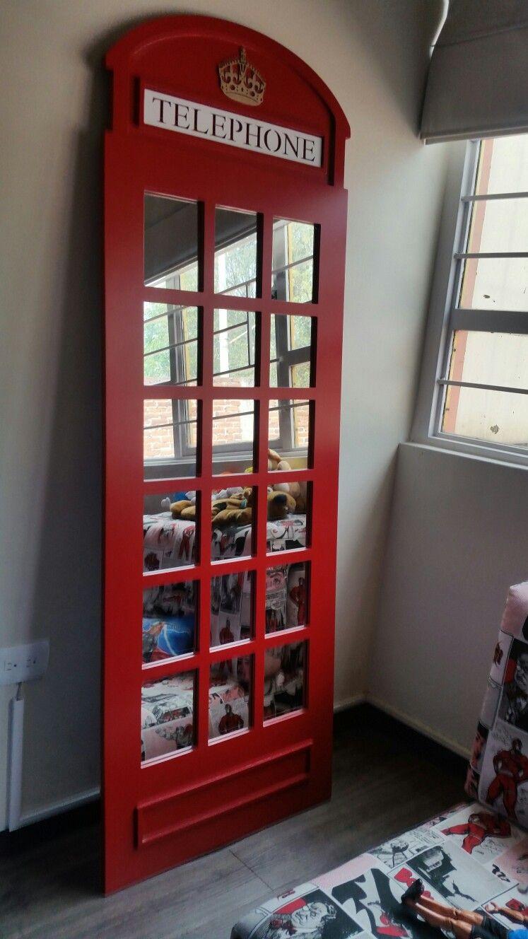 Espejo de cabina telef nica inglesa morarte decoraci n en for Espejos decorativos para habitaciones