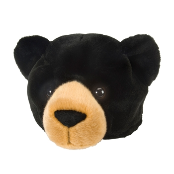 Black Bear Plush Animal Hat By Wild Republic Animal Hats Black