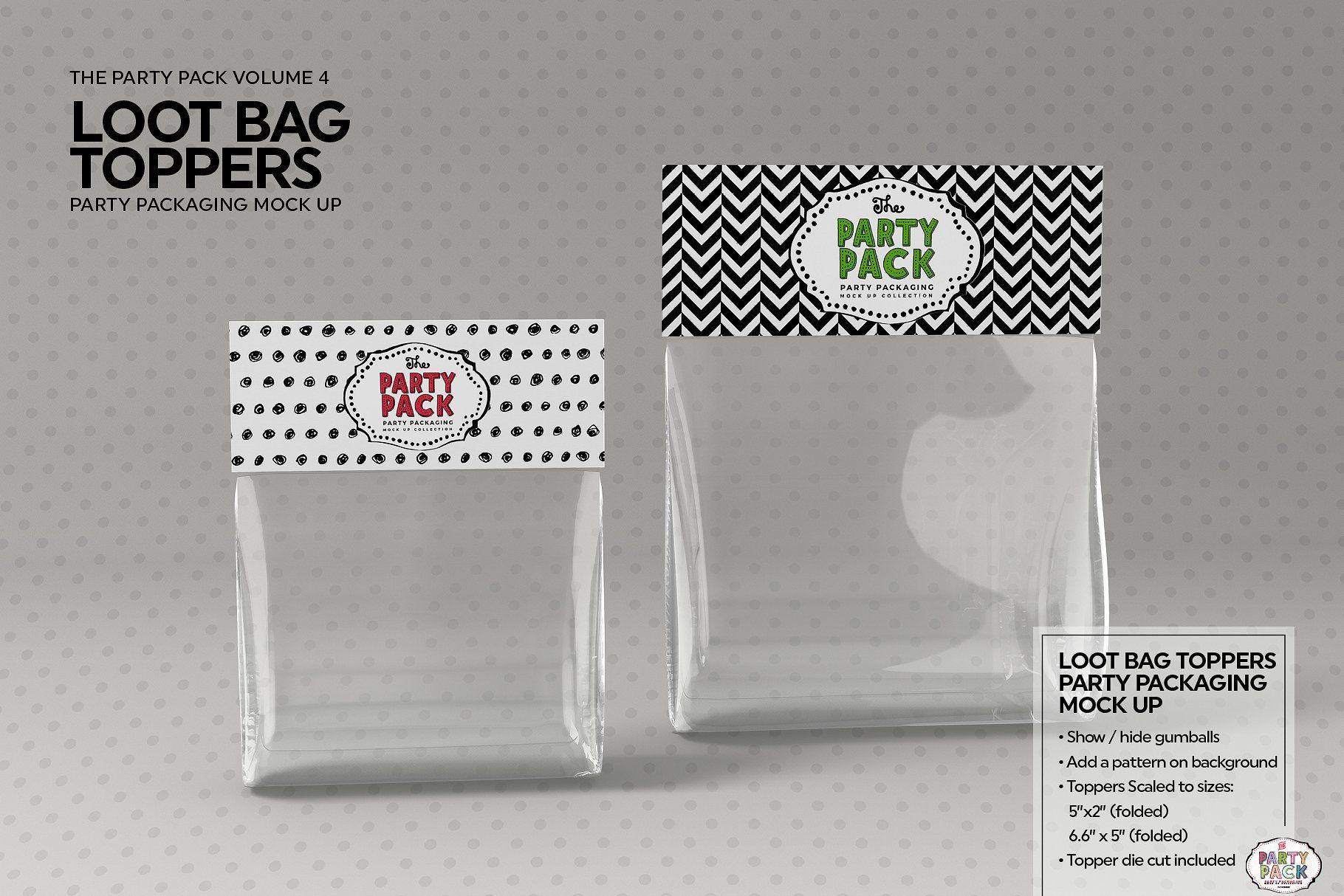Download Loot Bag Topper Packaging Mockup Loot Bags Bag Topper Party Packs