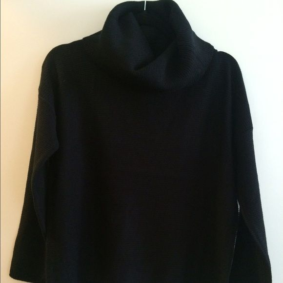black slouchy sweater same as brown sweater for better photo reference / never worn Sweaters Cowl & Turtlenecks