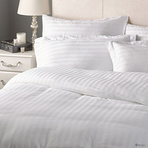 Checkitout Discover Luxury With This Fine Duvet Cover Made Of 100 Egyptian Cotton Widely Known For High S Striped Duvet Covers Striped Duvet Stripe Bedding