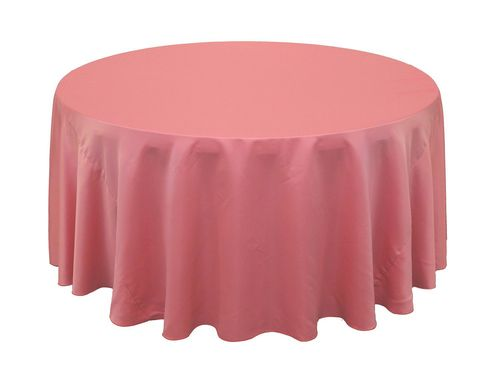 120 inch round l amour satin tablecloth coral clearance rounding rh pinterest com