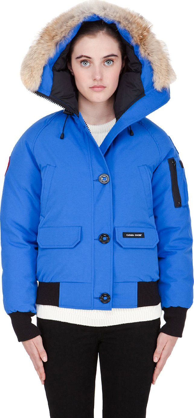 $645 Canada Goose Bright Blue PBI Chilliwack Jacket SSENSE