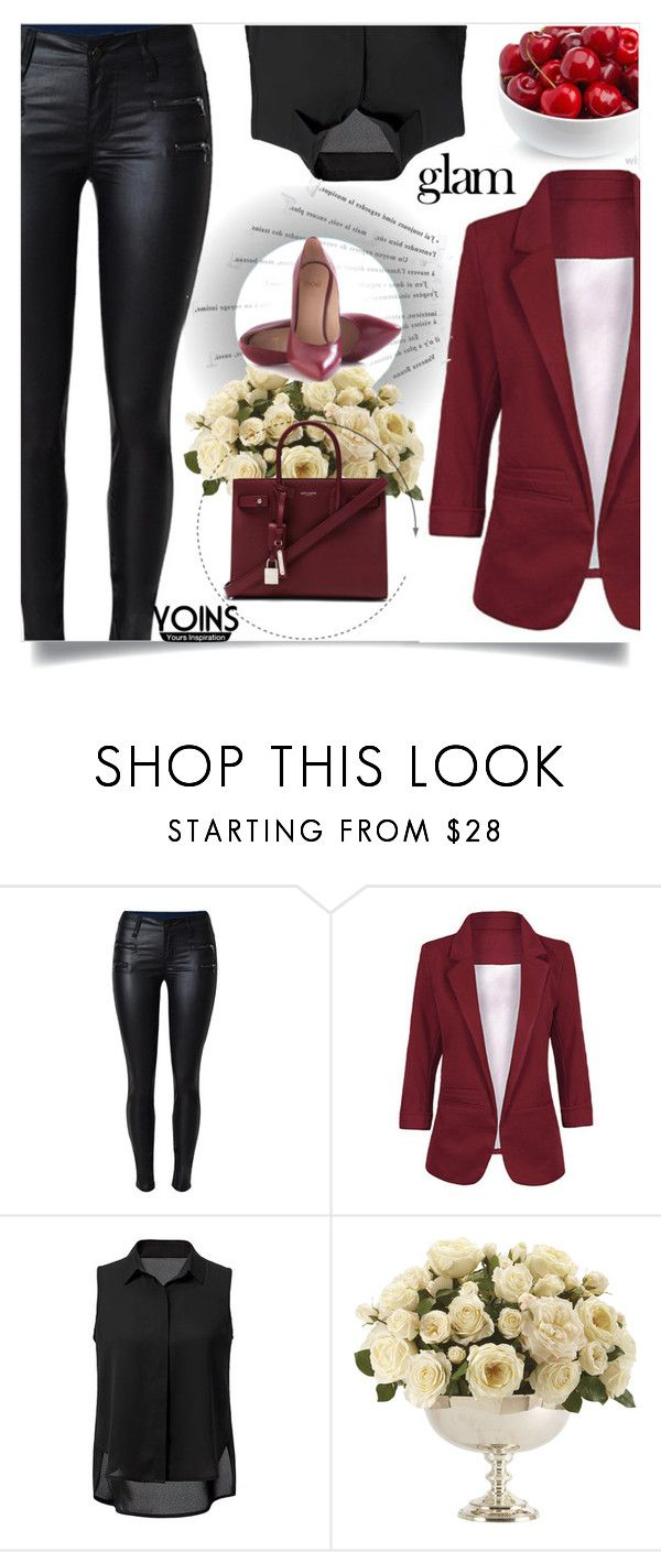 """Yoins  4"" by nejra-l ❤ liked on Polyvore featuring Katie, Ethan Allen, Yves Saint Laurent, Naeem Khan, yoins, yoinscollection and loveyoins"