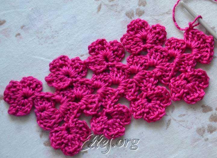 Crocheted Flower Laceedging Uzory 16 Pinterest Crochet