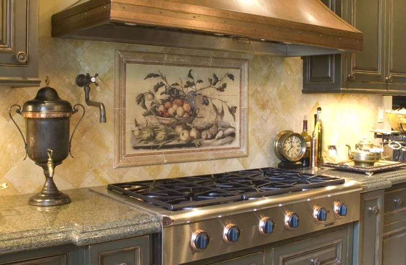 Kitchen backsplash tile patterns beautiful backsplash murals make your kitchen look fantastic - Kitchen backsplash ceramic tile designs ...