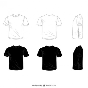 Download White And Black Tees T Shirt Design Template Polo T Shirts Shirt Design Inspiration