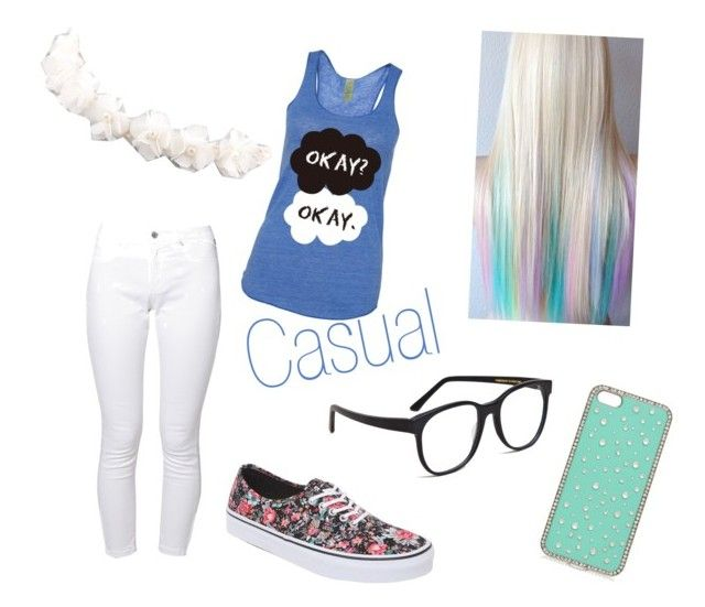 """Casual"" by rileigh-owens ❤ liked on Polyvore featuring Brooklyn Supply Co., Forever New, Larke, Vans and Full Tilt"