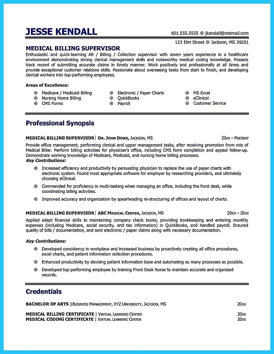 Cool Exciting Billing Specialist Resume That Brings The Job To You