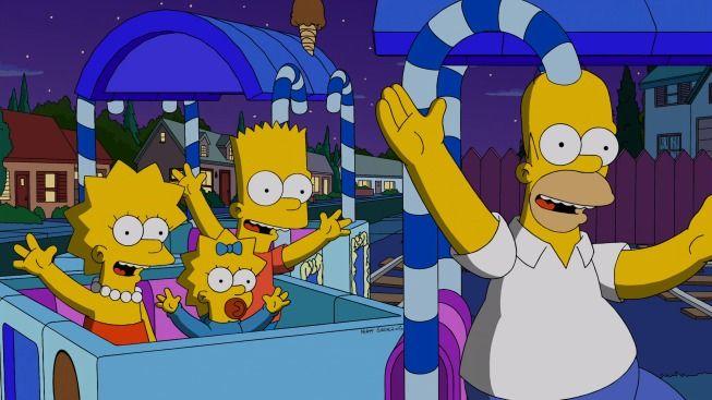 Les Simpson S24 E22 Les Dangers du train