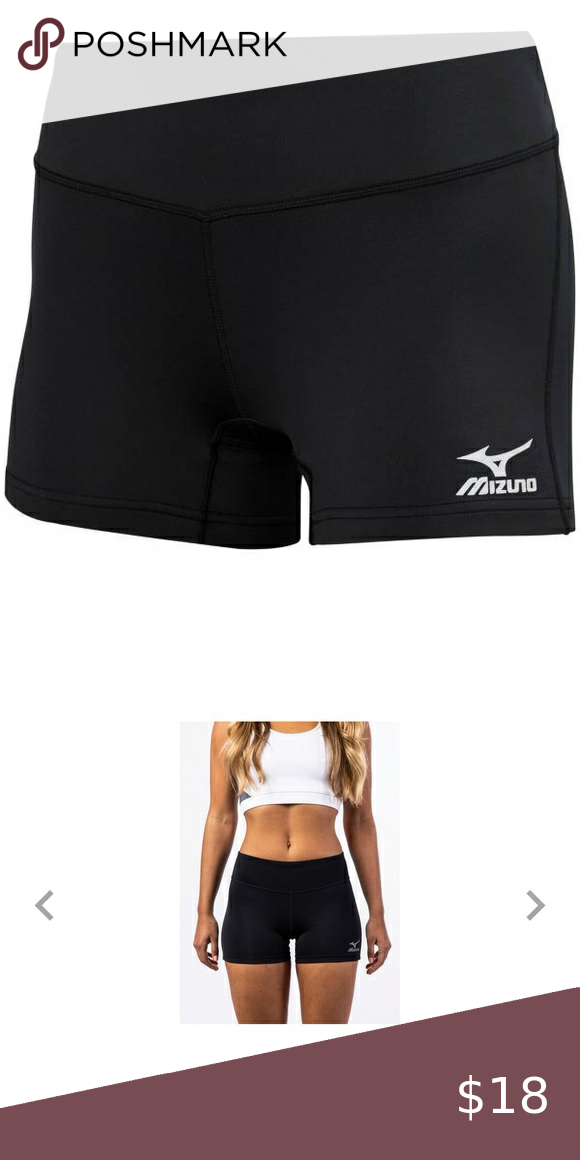 Black Sz Medium Mizuno Women S Spandex Short In 2020 Spandex Shorts Womens Spandex Shorts Athletic Shorts