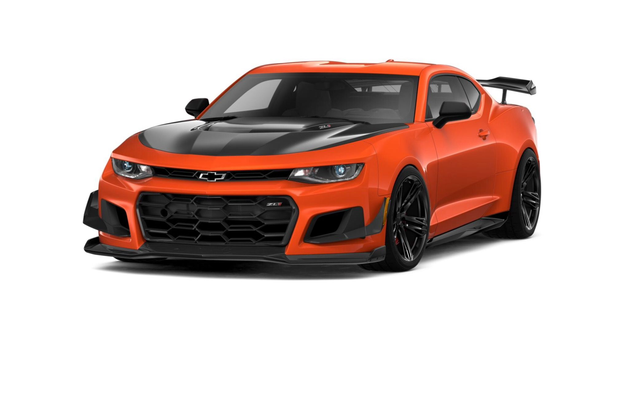 83d49d9ce5b Rendering of a 2019 Camaro ZL1 1LE painted in Crush