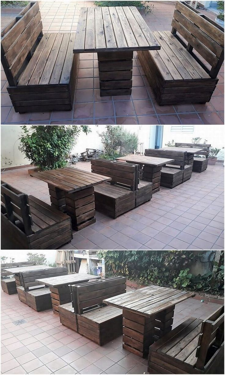 Home garden furniture  This is the whole end of the DIY awesome garden furniture set up of