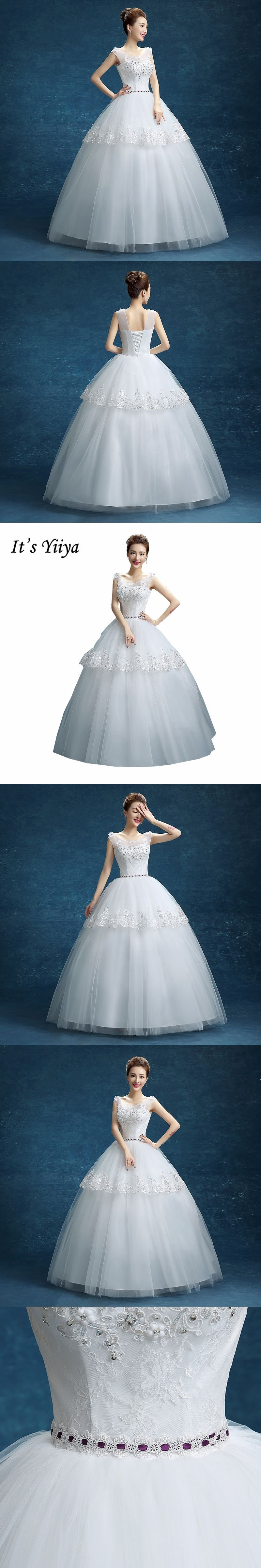 Free Shipping Real Photo White O-neck Lace Flowers Tulle XXL Bride ...