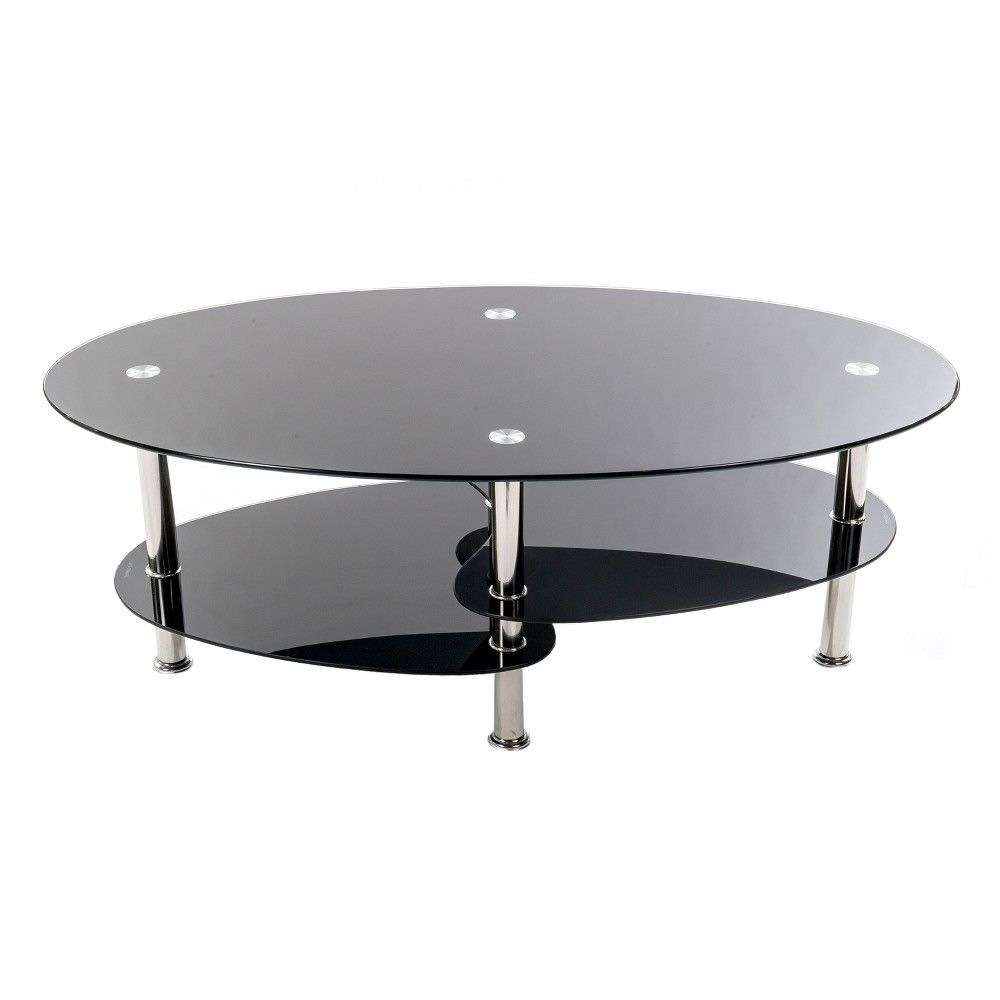 Home Source S Black And Chrome Coffee Table Is A Stylish And