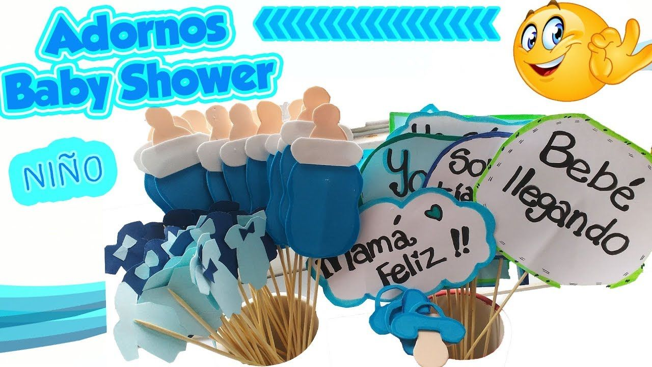 Como Hacer Adornos Para Baby Shower Nino Decoracion Diy Manualidades Youtube Adornos Para Baby Shower Como Hacer Adornos Manualidades