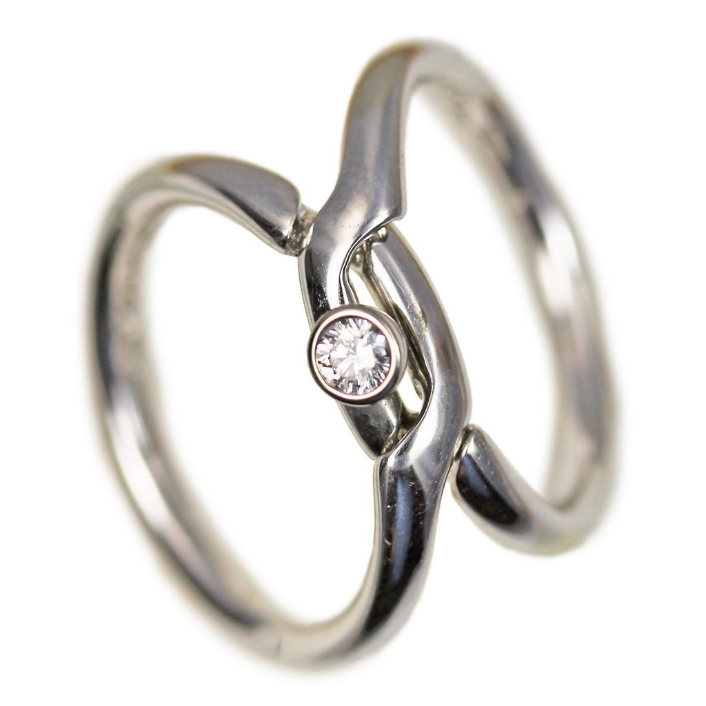 paloma picasso diamond engagement ring and interlocking wedding band - Interlocking Wedding Rings