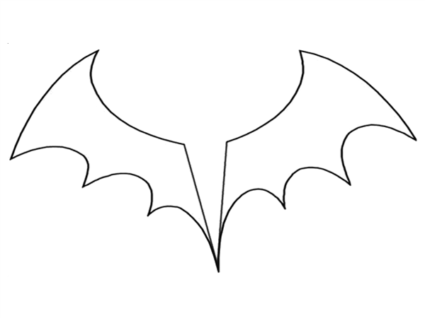 Molde De Morcego Para Imprimir E Recortar Desenho De Morcego