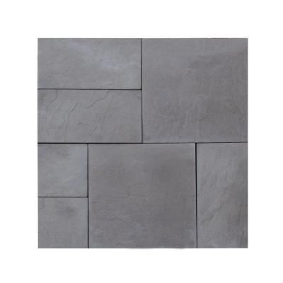 Nantucket Pavers Patio On A Pallet 10 Ft X 10 Ft Concrete Gray Basket Weave Yorkstone Paver 37 Pieces 100 Sq Ft 31031 The Home Depot In 2020 Paver Patio Outdoor Patio Decor York Stone