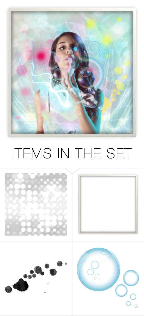 """""""Bubble beam"""" by beanpod ❤ liked on Polyvore featuring art"""