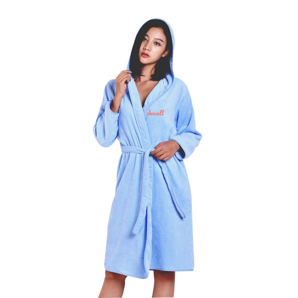 Luxury Cotton Hooded Robe Personalized Embroidered Solid Spa Terry Hooded  Robes  MMY  Bathrobe b02052373