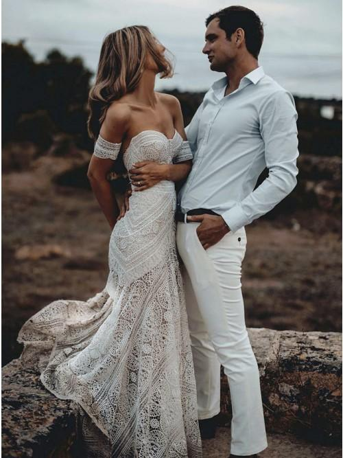Sweetheart Lace Mermaid Wedding Dresses Online Cheap Lace Bridal Dresses Wd460 Lace Beach Wedding Dress Sweetheart Wedding Dress Online Wedding Dress