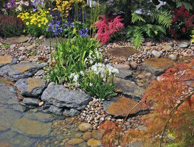 Rustic slate rockery large 1 tonne crate landscape for Garden pond rockery ideas