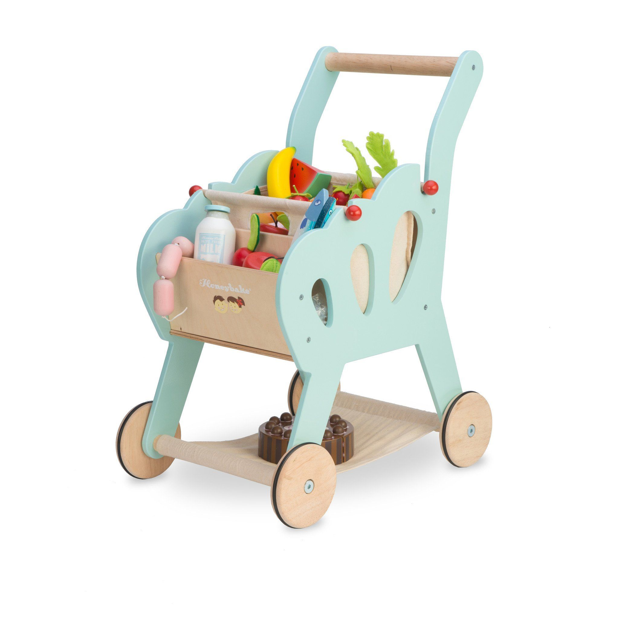 Le Toy Van Shopping Cart Little Earth Nest In 2020 Kids Toy Kitchen Toy Shopping Cart Toddler Toys