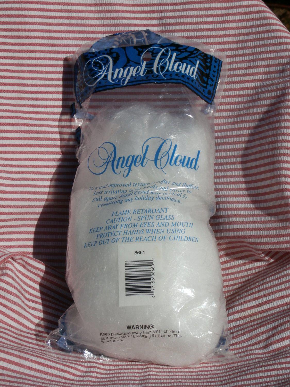 real spun glass angel hair christmas