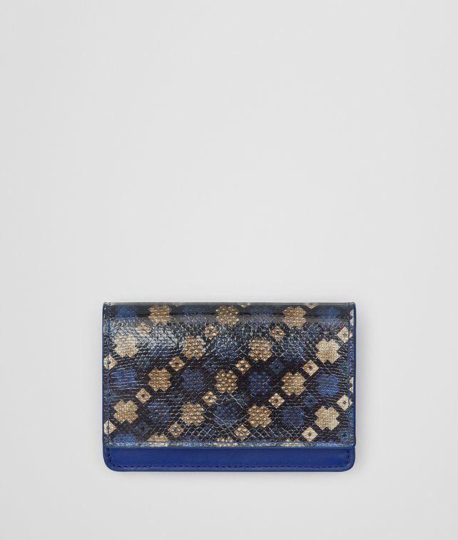 Prix Extrêmement Pas Cher Bottega Veneta Multicolore Portefeuille Continental Karung Bleu Cobalt Afin Sortie IRyAaZ2Q25