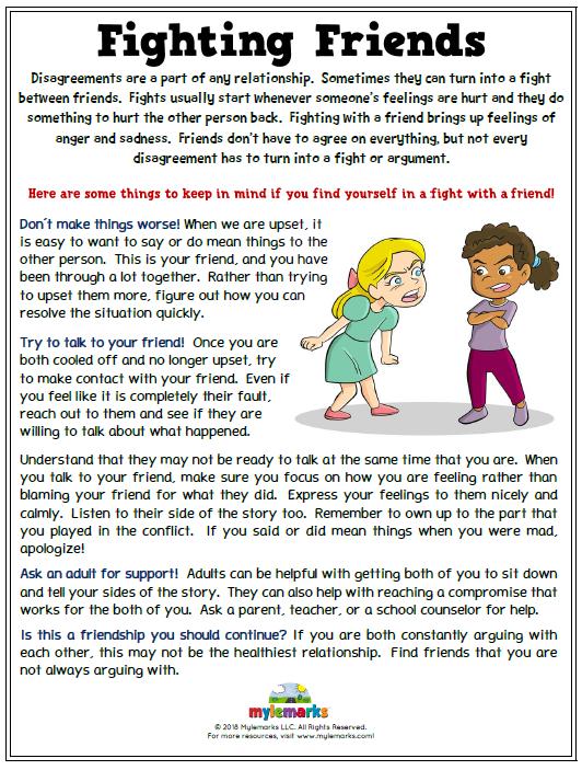 Fighting Friends | Social skills for kids, Social